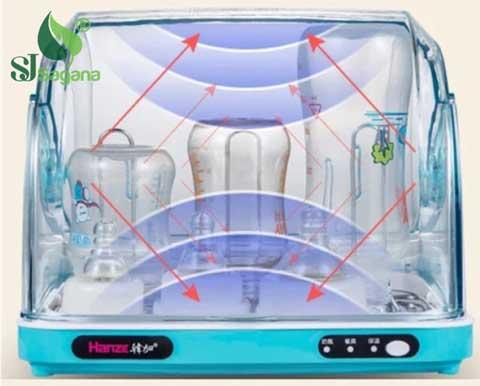 Ứng dụng tia UV tring việc tiệt trùng các vật dụng trong gia đình.